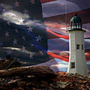 Scituate Strong Protecting American Shoreline Art Print