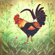 Scooter The Rooster Art Print