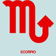 Scorpio Zodiac Sign Red Art Print