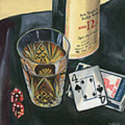 Scotch And Cigars 2 Art Print by Debbie DeWitt
