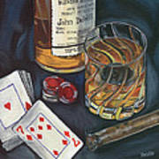 Scotch And Cigars 4 Art Print