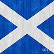 Scotland Flag Art Print