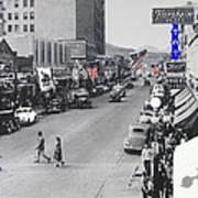 Scott Congress State Theater La Fiesta De Los Vaqueros Rodeo Banners Circa 1939 Tucson Az Art Print