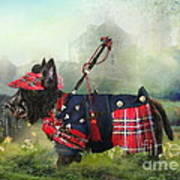 Scottie Of The Glen Art Print by Trudi Simmonds