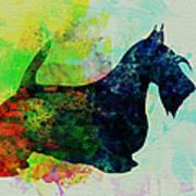 Scottish Terrier Watercolor Art Print by Naxart Studio