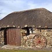 Scottish Thatched Cottage Art Print
