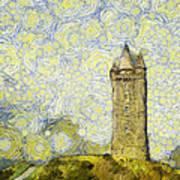 Starry Scrabo Tower Art Print