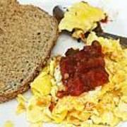 Scrambled Eggs And Salsa Art Print