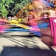 Scrambler Blur Art Print