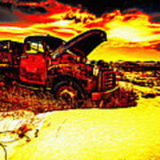 Junk In The Afternoon Sun Art Print