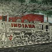 Scrapping Hoosiers Indiana Monon Train Art Print