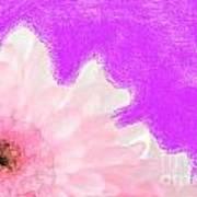 Scream And Shout Pink White Purple Art Print