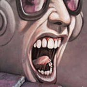 Screamer Art Print by Gillian Singleton