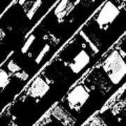 Screwed Metal Tab Abstract Art Print