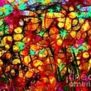 Scribble Flowers Art Print