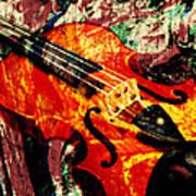 Scribbled Fiddle Art Print