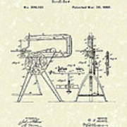 Scroll-saw 1880 Patent Art Art Print