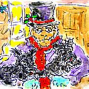 Scrooge And Scotties Art Print