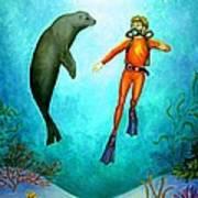 Scuba Diver One Art Print