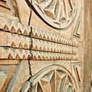 Sculpted Wooden Door Art Print