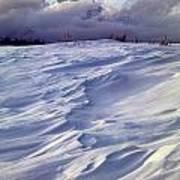 1m9347-sculptured Snow And Grand Teton Art Print
