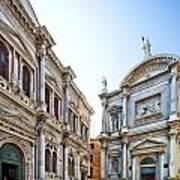 Scuola Grande Di San Rocco And San Rocco Church Art Print