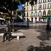 Scupture Of Picasso On The Plaza De La Art Print