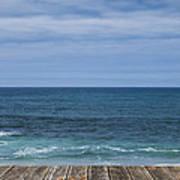 Sea And Wooden Platform Art Print