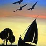 Sea Birds In Dubai Art Print