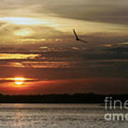 Sea Bright Sunset Art Print