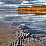 Sea Coal Saltburn Sunset Art Print