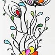 Sea Flowers Art Print by Carolyn Weir