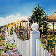 Sea Garden Walk Art Print