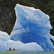 Sea Kayaking With Icebergs Tracy Arm Art Print