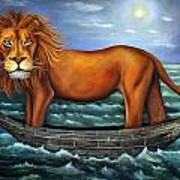 Sea Lion Bolder Image Print by Leah Saulnier The Painting Maniac