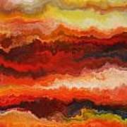 Sea Of Fire  Art Print by Andrada Anghel