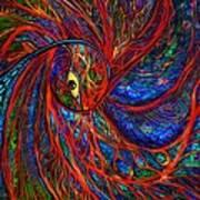 Sea Of Peacock Art Print