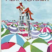 Sea Of Umbrellas Art Print