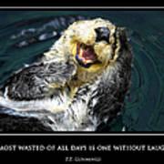 Sea Otter Motivational  Art Print by Fabrizio Troiani