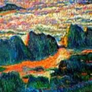 Sea Point Rocks Art Print