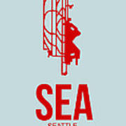 Sea Seattle Airport Poster 1 Art Print by Naxart Studio