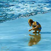 Sea Shell Seeker Art Print