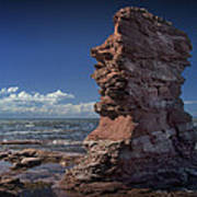 Sea Stack At North Cape On Prince Edward Island Art Print