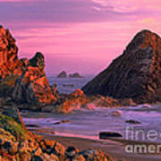 Sea Stacks Clearing Storm Harris State Beach Oregon Art Print