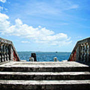 Sea Stairs Art Print