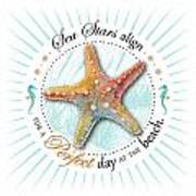 Sea Stars Align For A Perfect Day At The Beach Art Print by Amy Kirkpatrick