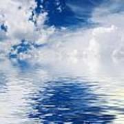 Sea Sun And Clouds Art Print