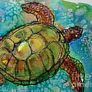 Sea Turtle Endangered Beauty Art Print by M C Sturman