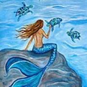 Sea Turtle Friends Art Print
