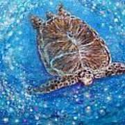 Sea Turtle Mr. Longevity Art Print